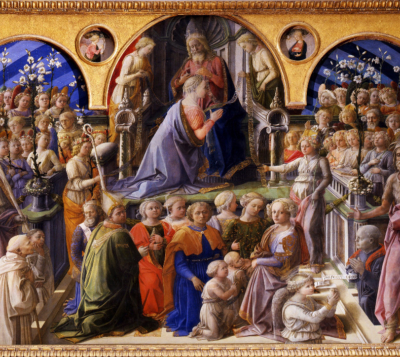 Filippo Lippi. The Coronation of the Virgin. 1441-1447