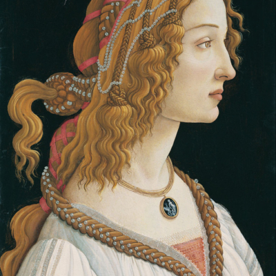Sandro Botticelli. Portrait of Simonetta Vespucci as Nymph. 1484