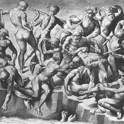 Michelangelo. Battle of Cascina. 1504